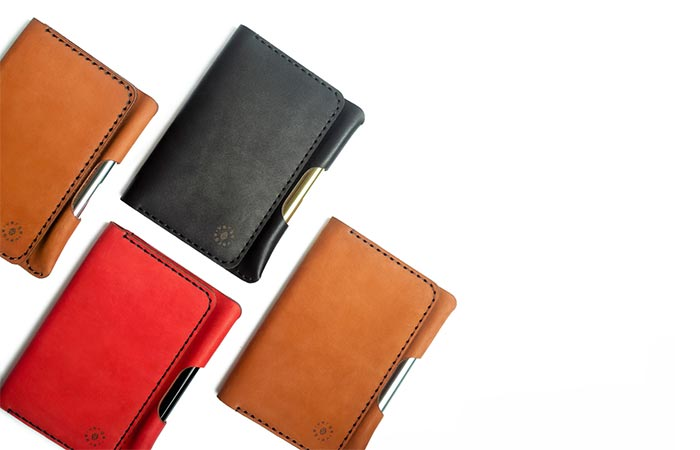 VERGE leather notebook covers