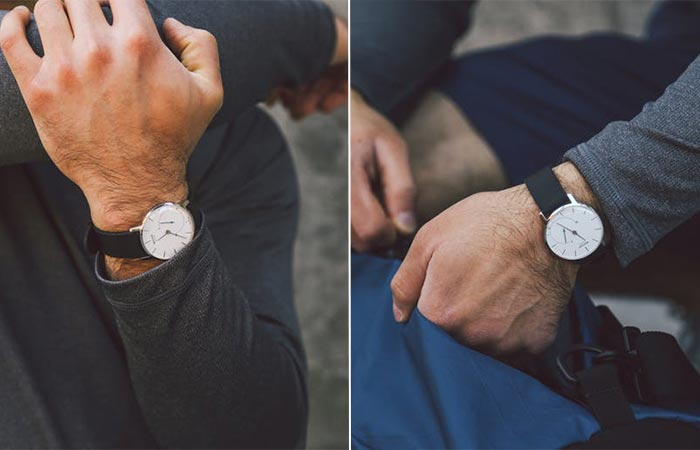 two images of Withings Activité with a black strap