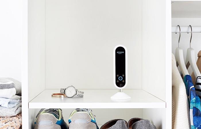 Amazon Echo Look in a closet