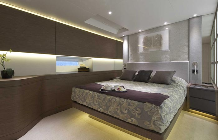 Cabin of the Angel's Share Luxury Superyacht