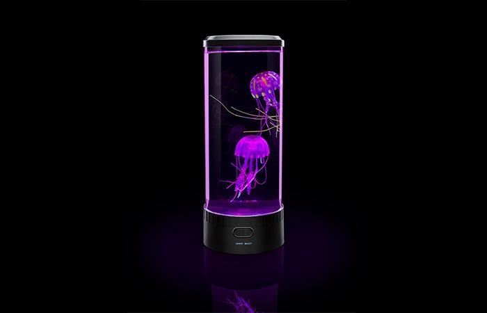 Electric Jellyfish Aquarium in purple