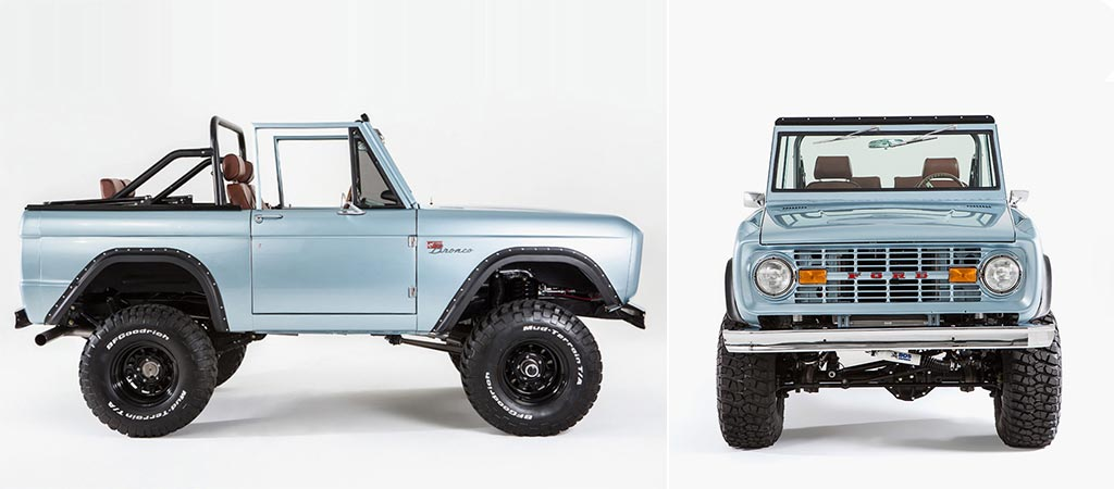 Two different views of the Ford Bronco