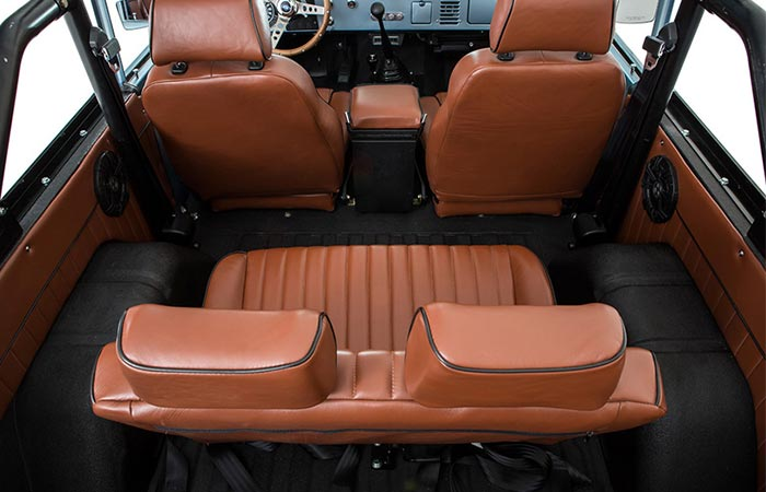 Ford Bronco interior top view