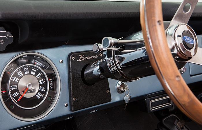 Ford Bronco dashboard