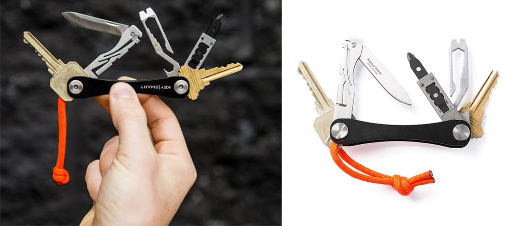 Two different views of the Keysmart Compact EDC Kit