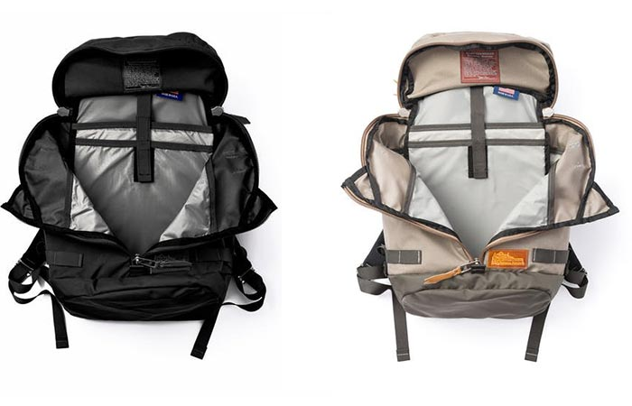 Black and Stone Kletterwerks Drei Zip Rucksacks