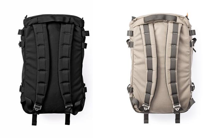 Rear view of the Kletterwerks Drei Zip Rucksacks