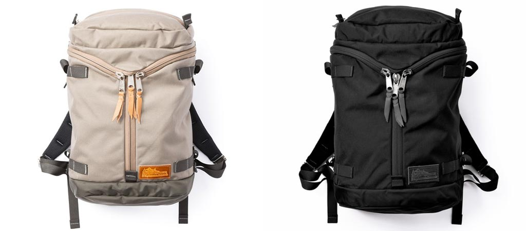 Stone and Black Kletterwerks Drei Zip Rucksacks
