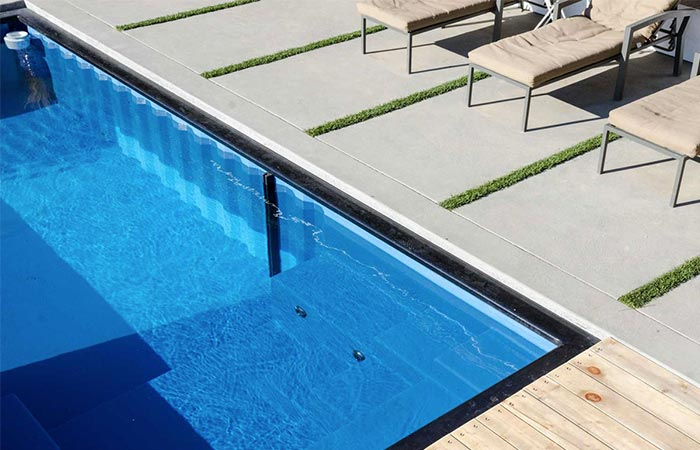 a view of a modular pool