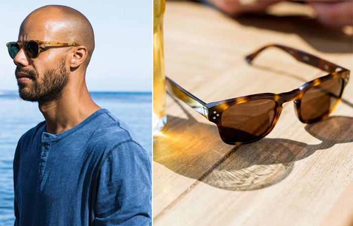 two images of Pacifico Optical sunglasses