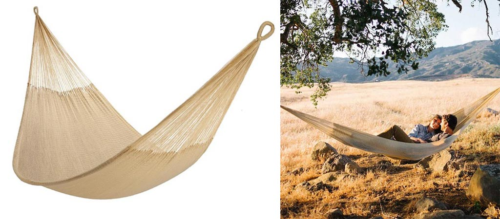 Two different views of the Weatherproof Big Sur Hammock