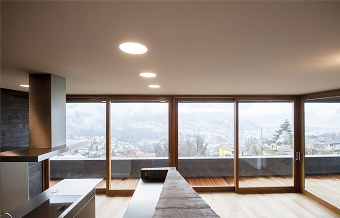 the windows on Comano Villa