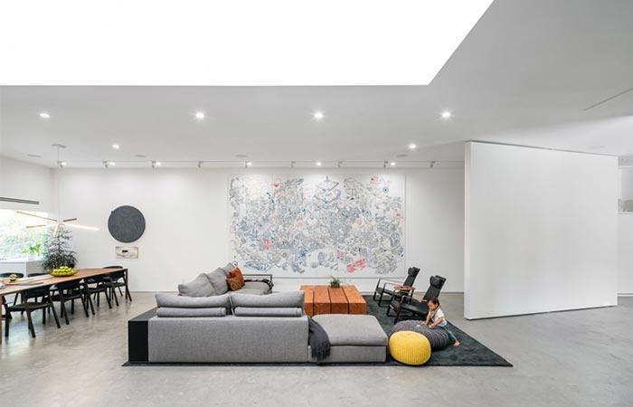 a living room sofa