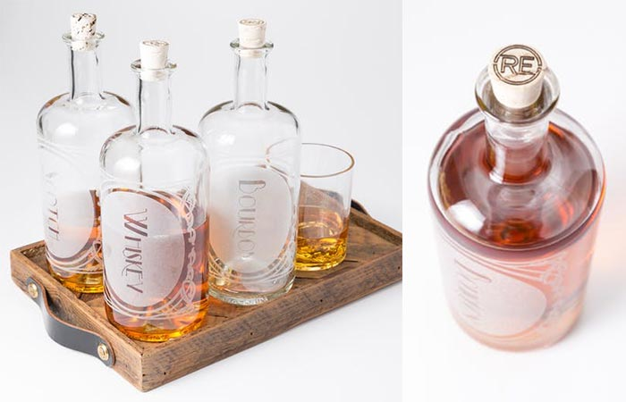 Reclamation Etchworks Decanters