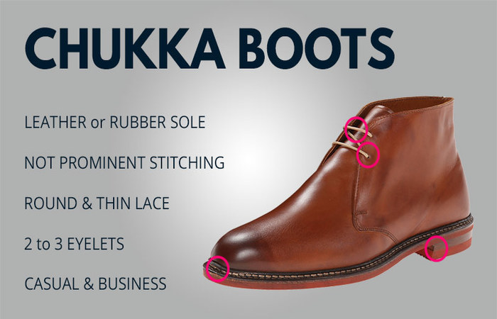 five main features of chukka boots