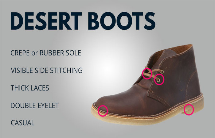 five features of dessert boots