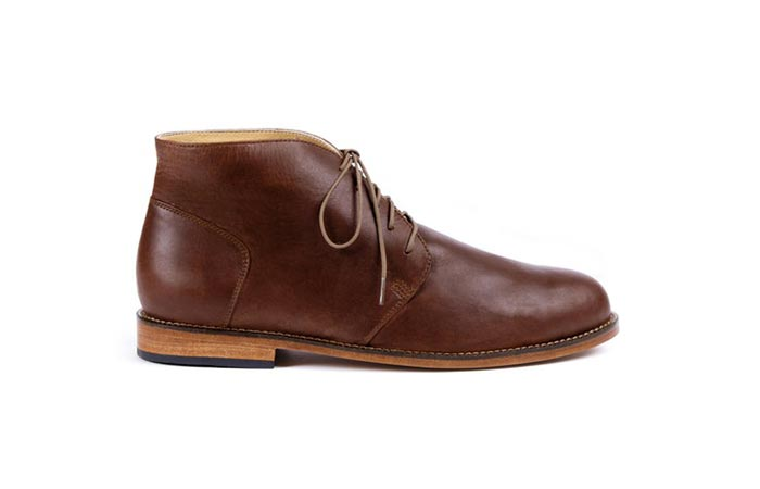 brandy colored Nisolo Emilio chukka boot from huckberry