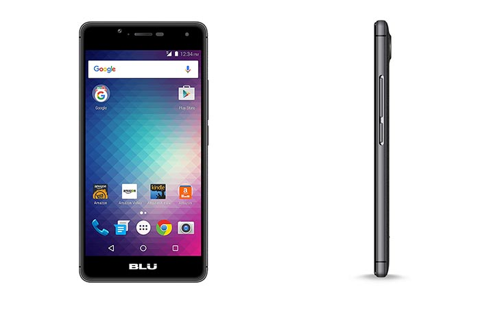 two images of Blu R1 HD smartphone