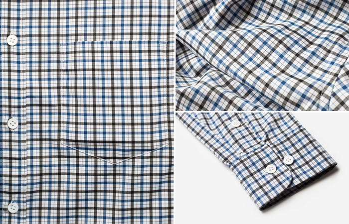 details of Bluffworks Meridian Dress Shirt