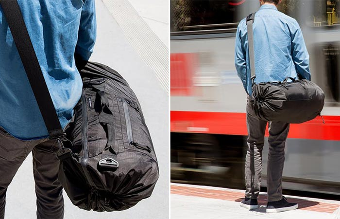 two images of Piorama Adjustable Bag