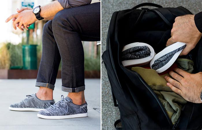 two images of Suavs Zilker Knit Shoe