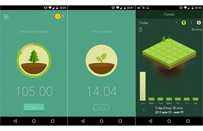 Forest App Display Smartphone Addiction App