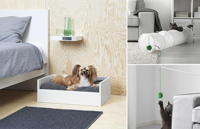 three images of Ikea pet collection