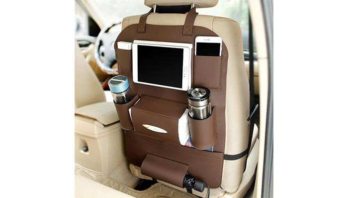 KR Leather Car Seat Organizer