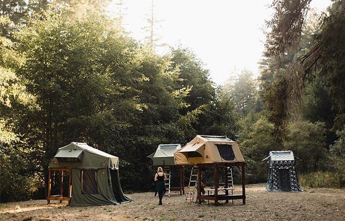 an image of four Tepui SkyCamp Tents