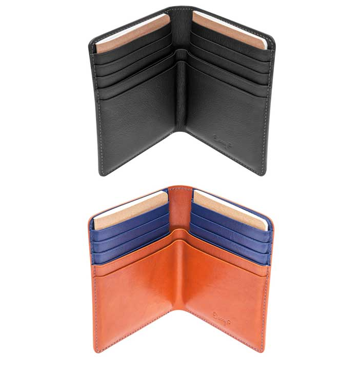 Travel and passport wallets in two colors