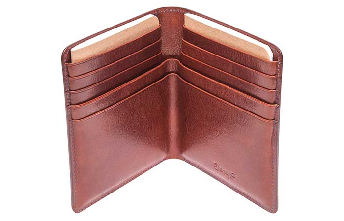 Danny P passport wallet in dark brown