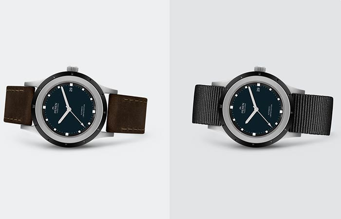 two variations of Peren Nera watch
